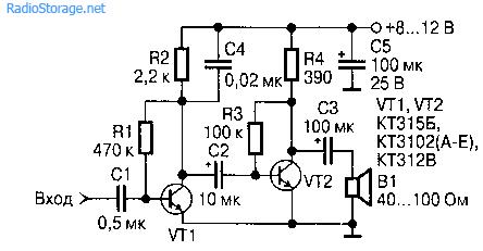 Усилитель-пробник на транзисторах
