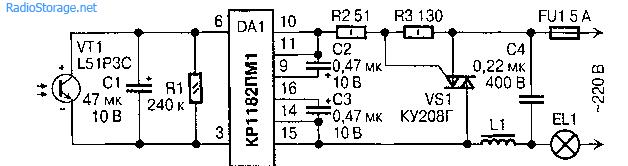 Фотореле на микросхеме КР1182ПМ1