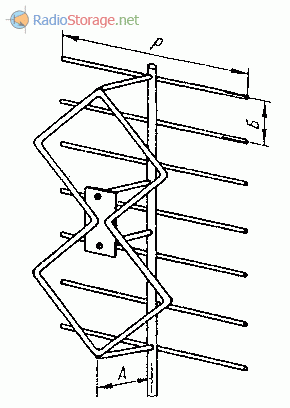 Зигзагообразная антенна с рефлектором