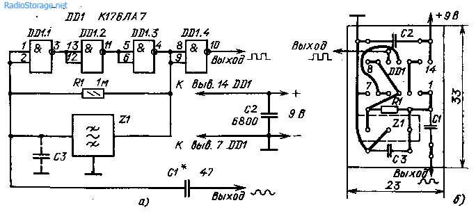Телеграфные гетеродины на микросхеме К176ЛА7