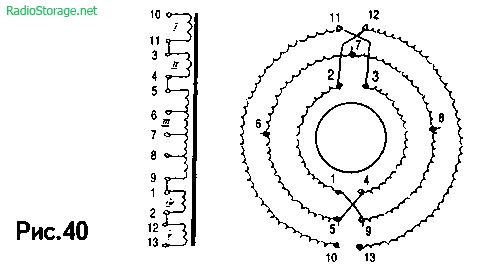 Схема стереофонического мостового УМЗЧ К. Вайсбейна на 6Н1П, 6П41С (20Вт)