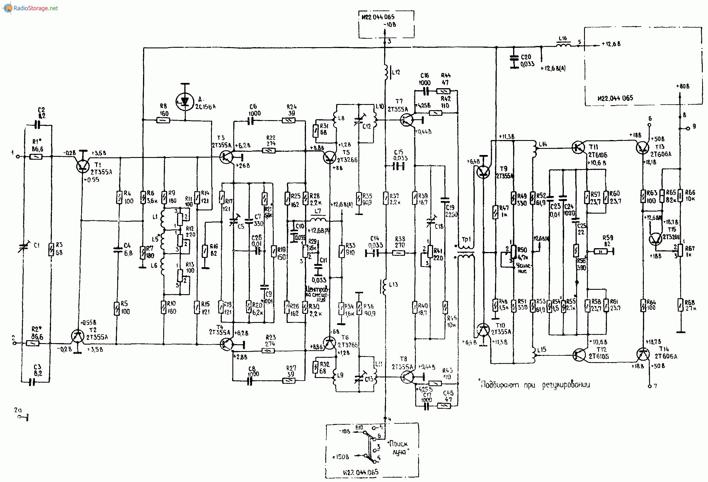 Осциллограф С1-71, схема