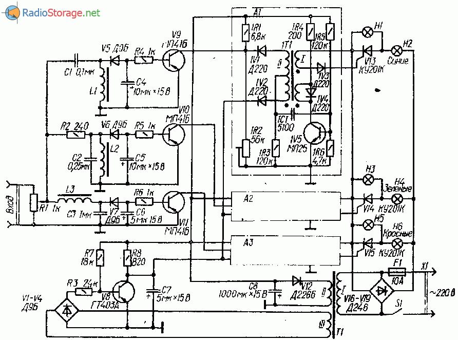 Схема светомузыки с числоимпульсным управлением тиристорами