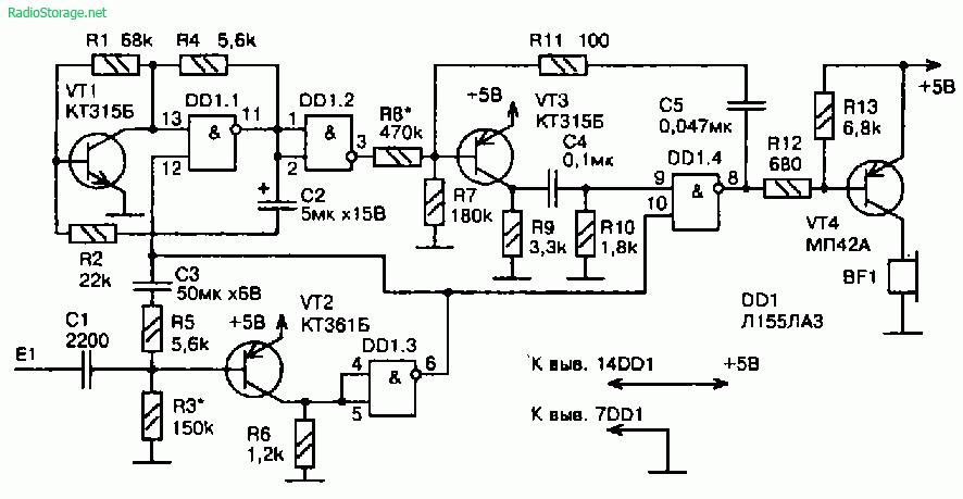 Сенсорные устройства с использованием микросхем