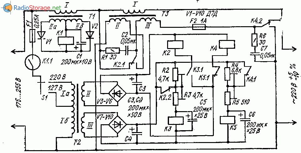 Экономичный стабилизатор напряжения сети (500Вт)