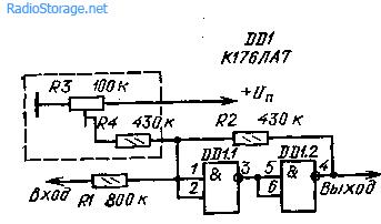 Пороговые устройства на элементах цифровой логики