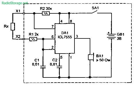 Простой звуковой пробник для прозвонки цепей