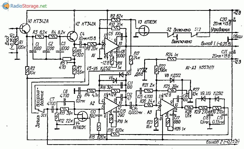 Фильтр шумоподавитель на транзисторах