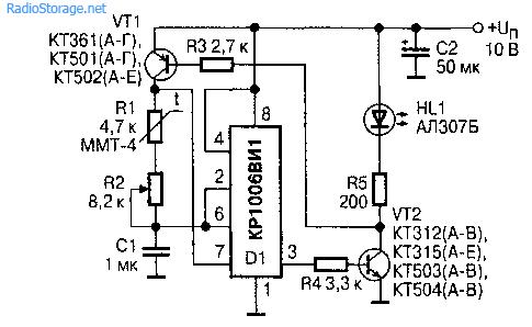 Чувствительный аквариумный термометр (КР1006ВИ1)