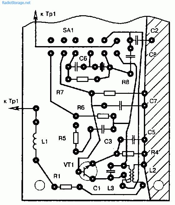 Рекомендуемый монтаж деталей высокочастотного тракта радиостанции
