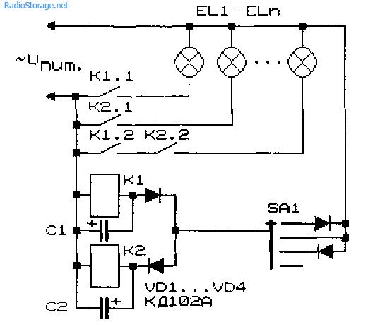Схемы устройств малопроводной связи и коммутации