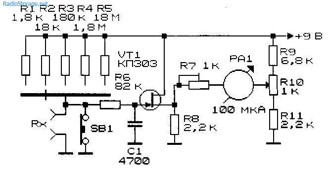 Схемы простых многодиапазонных измерительных приборов