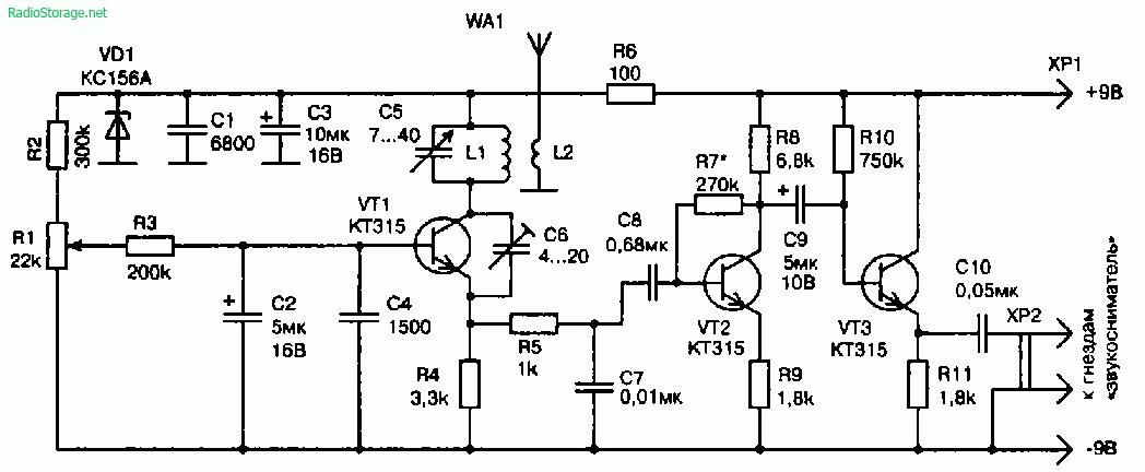 Схемы УКВ-тюнеров приставок к ламповым радиоприемникам
