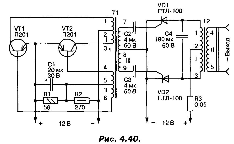 Схема тиристорных преобразователей частоты фото 292
