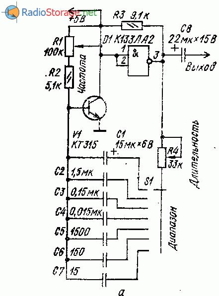 Простые генераторы импульсов на микросхемах (К133ЛА3)