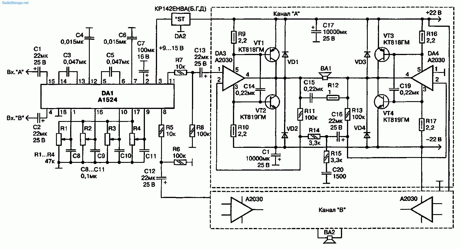 Мощный УМЗЧ на Philips TDA2030 (2x180 Вт) для дискотек