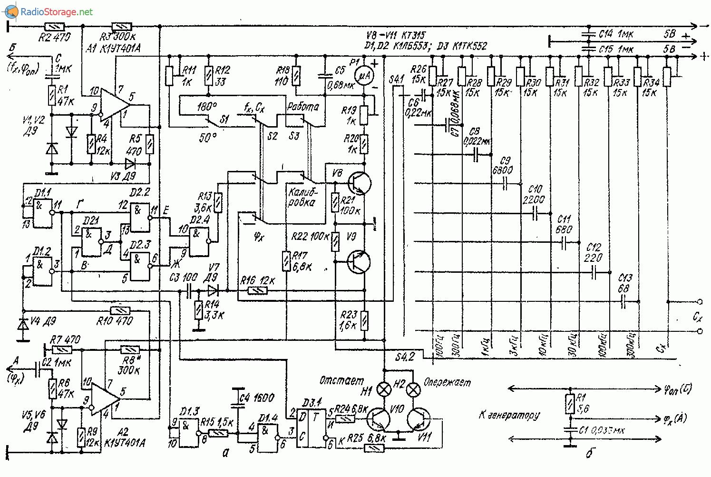 Универсальный измерительный прибор (частота, фаза, ёмкость)