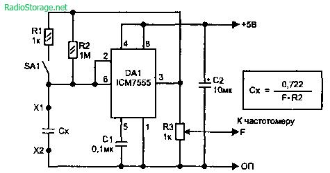 Приставка для проверки конденсаторов (icm7555)