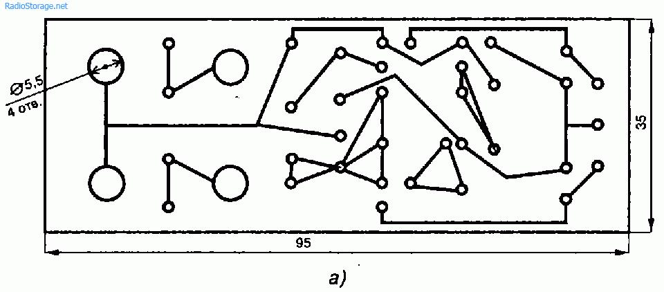 Схема двухполярного стабилизатора из одной обмотки трансформатора (КТ827, КТ825)