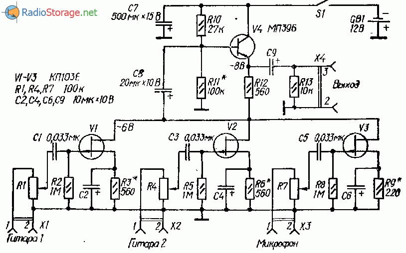Схемы дисторшн приставки к электрогитаре на транзисторах