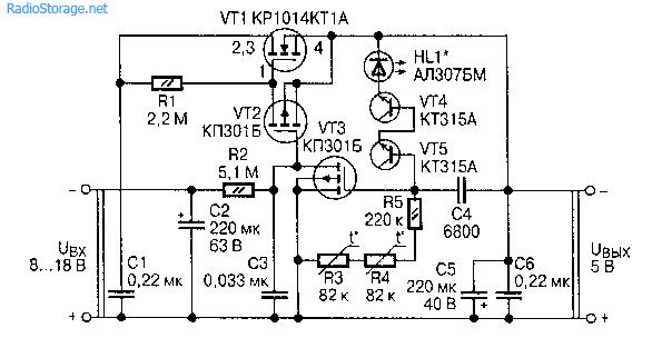 Стабилизаторы напряжения с малым током потребления (КР1014КТ1)
