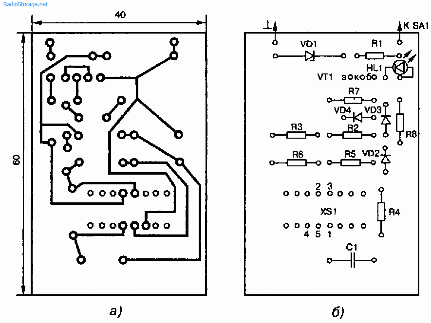 Схема пробника для проверки годности операционных усилителей (ОУ)