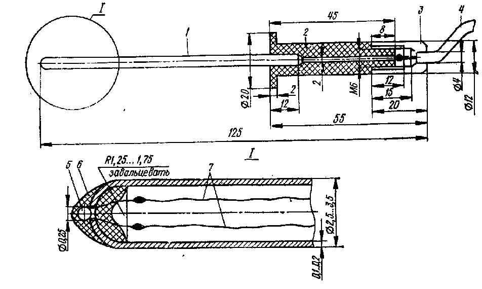 Конструкция термощупа для электронного индикатора превышения температуры