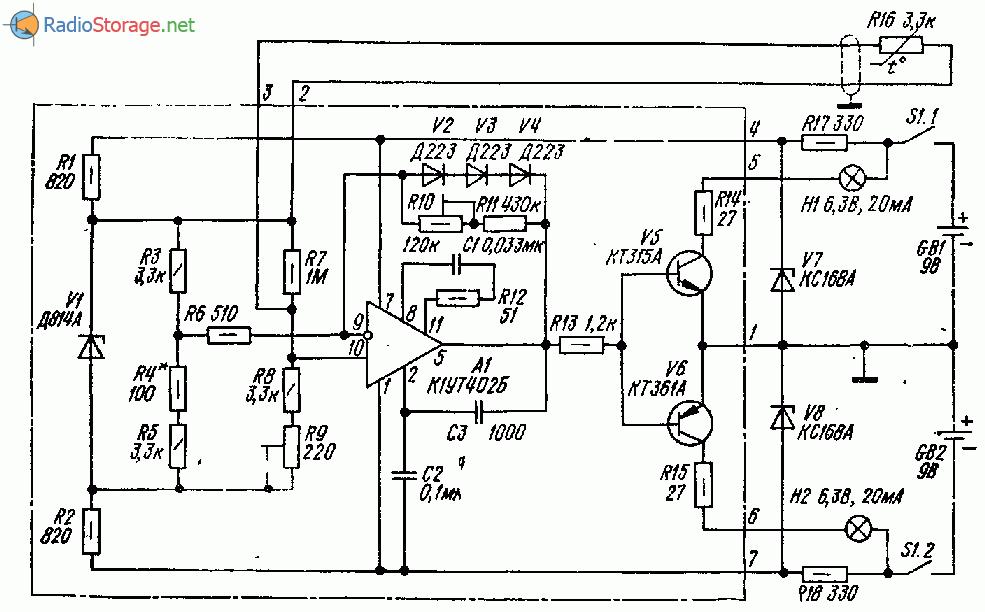 Электронный индикатор превышения температуры