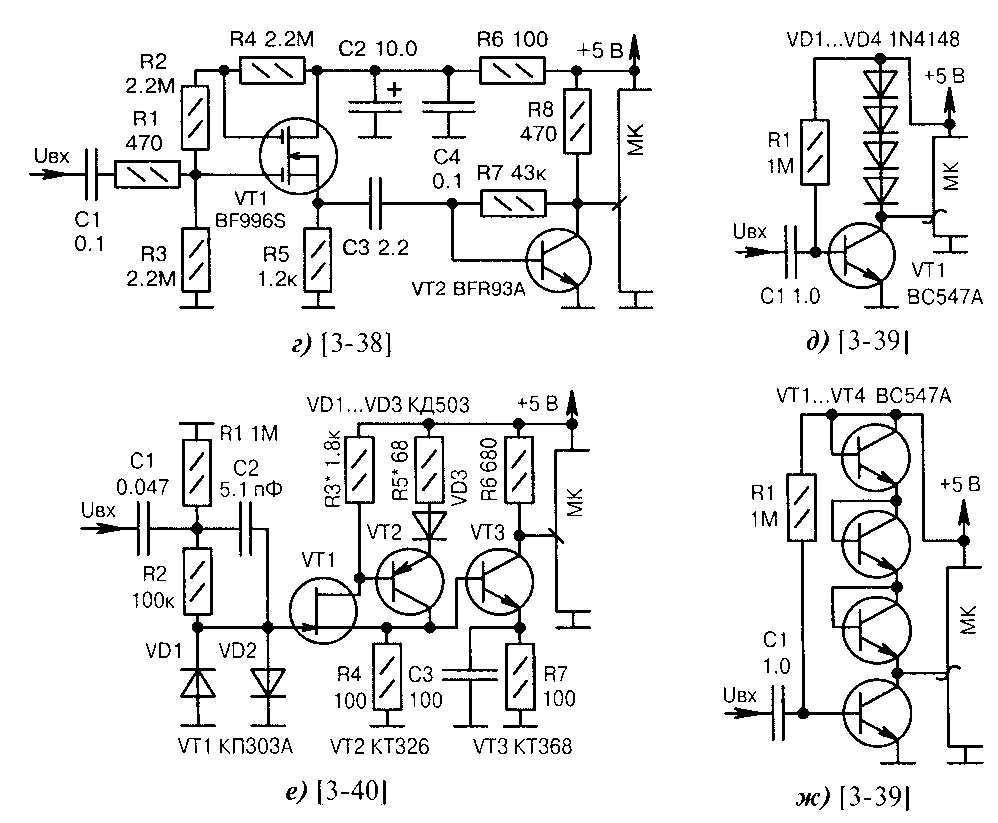 Усилители сигналов на транзисторах (для МК)
