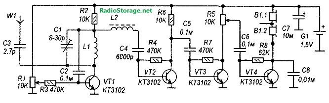 регенеративный УКВ радиоприемник на транзисторах