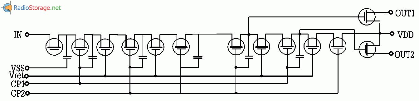 Система реверберации звука, эффект эхо, схема