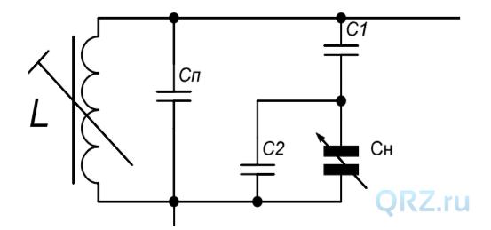 Общая схема колебательного контура.