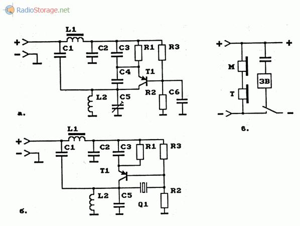 Схемы телефонных АМ-ретрансляторов на биполярных транзисторах