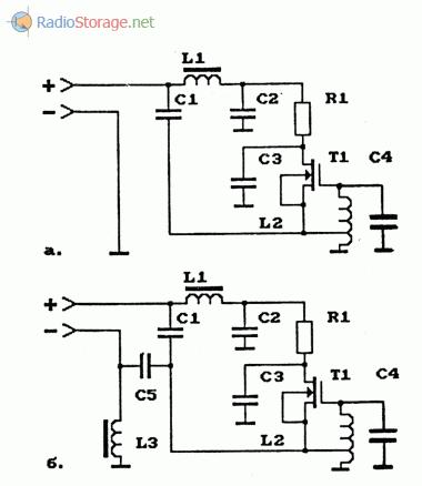 Схемы телефонных АМ-ретрансляторов на МОП-транзисторах
