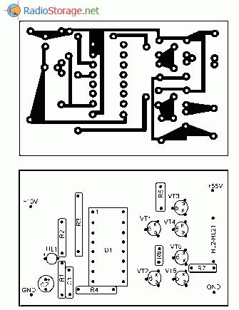 Печатная плата для гирлянды на двухцветных светодиодах