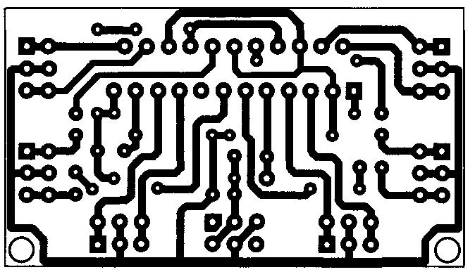 Изображение печатной платы для усилителя на микросхеме TDA8567