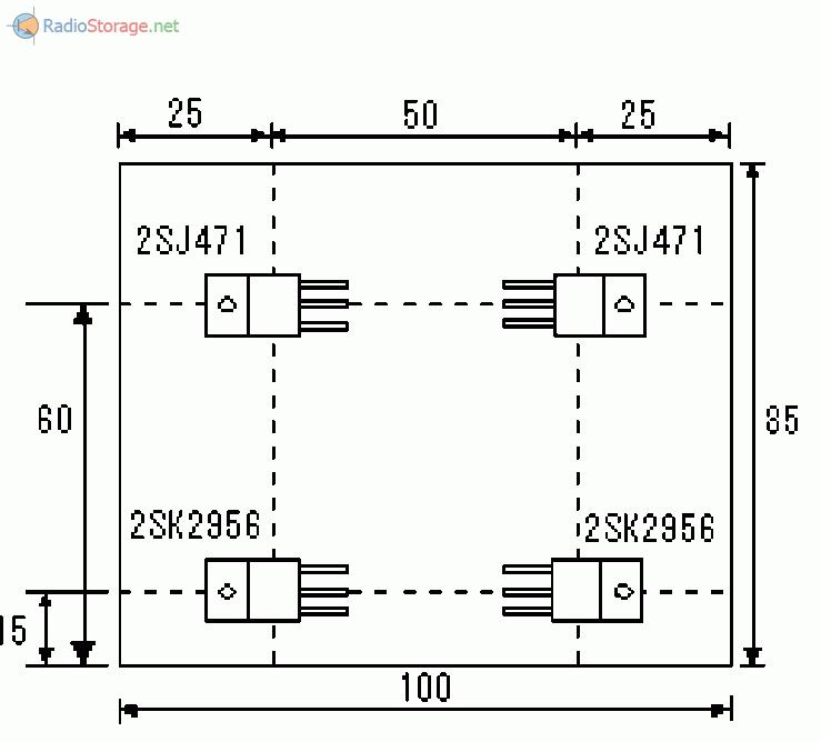 Схема крепления мощных транзисторов инвертора на радиатор