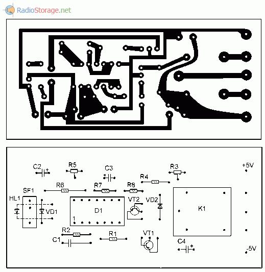 Печатная плата для оптического сигнализатора