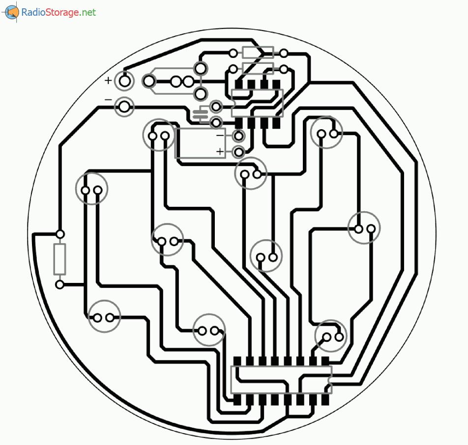 Мигалка в виде шарика на светодиодах, схема