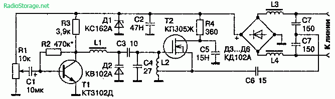 Телефонный УКВ ЧМ-ретранслятор на МОП-транзисторе (дальность 200м)