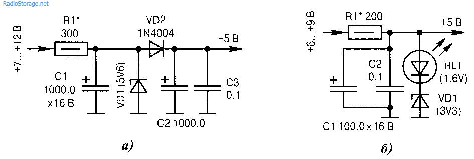 Параметрические стабилизаторы напряжения
