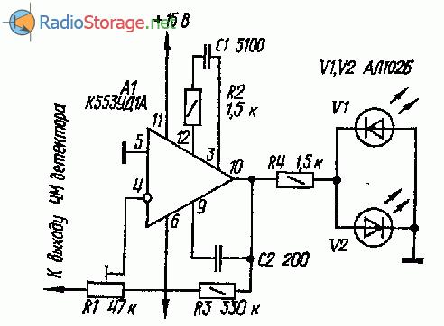 Индикатор точной настройки УКВ ЧМ приемника