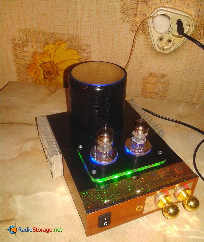 Лампово-транзисторный УНЧ для наушников и колонок