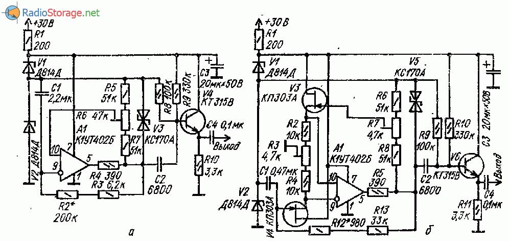 Генератор секундных импульсов на ОУ и транзисторах