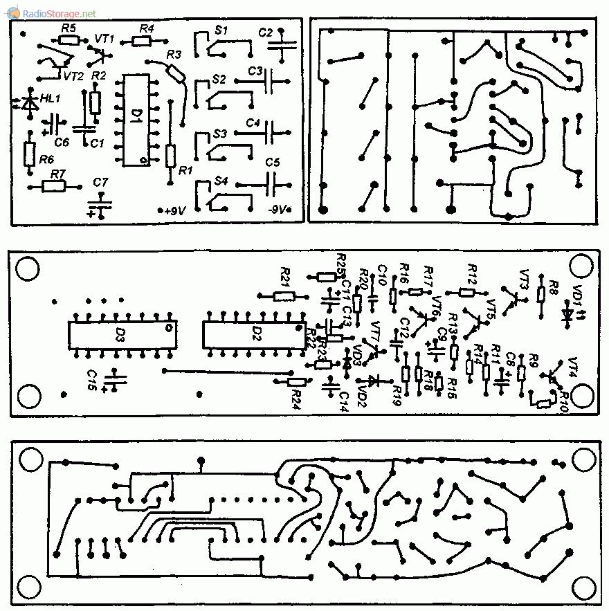 Печатные платы ИК-передатчика и ИК-приемника