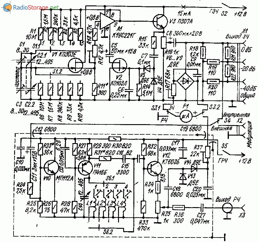 Генератор звуковой и радиочастоты (ЗЧ и РЧ)