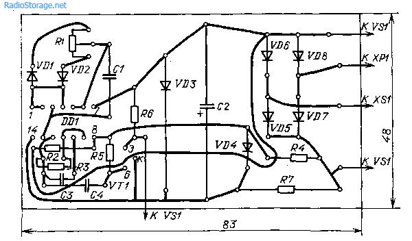 Регулятор мощности не создающий помех (176ЛЕ5, КУ202)