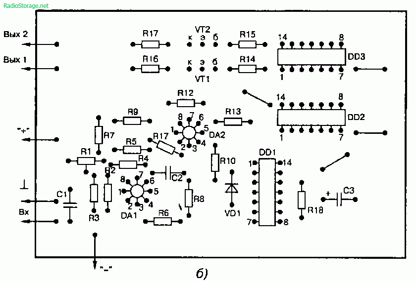 Модель управляемая звуком (140УД12, 176ЛА7)