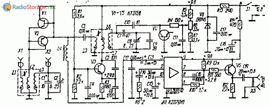Принципиальная схема КВ приесника на любительские диапазоны 10,20,40, 80 или 160 метров