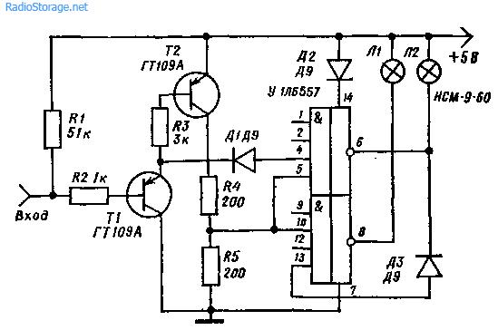 Простой логический зонд (щуп-индикатор)